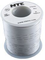 Nte Whs24 09 100 100 Foot 300 Vhu 24 Awg Solid Wire White By Nte 7 23 Control Panels Solid Wire Electrical Wiring