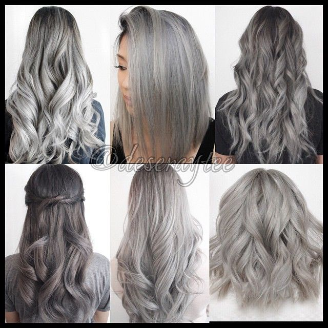 Ombres Blondes And Balayage Hair Styles Silver Grey Hair Hair Looks