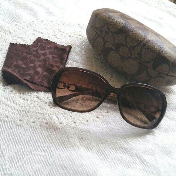 b52ddb5abf Coach Beatrice Sunglasses Authentic Brown logoside Coach Authentic HC8019  Beatrice Brown Sunglasses