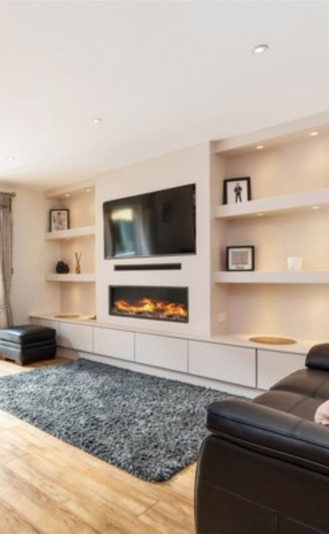 Fireplace Tv And Shelving Built In Shelves Living Room Living Room Decor Fireplace Living Room Built Ins
