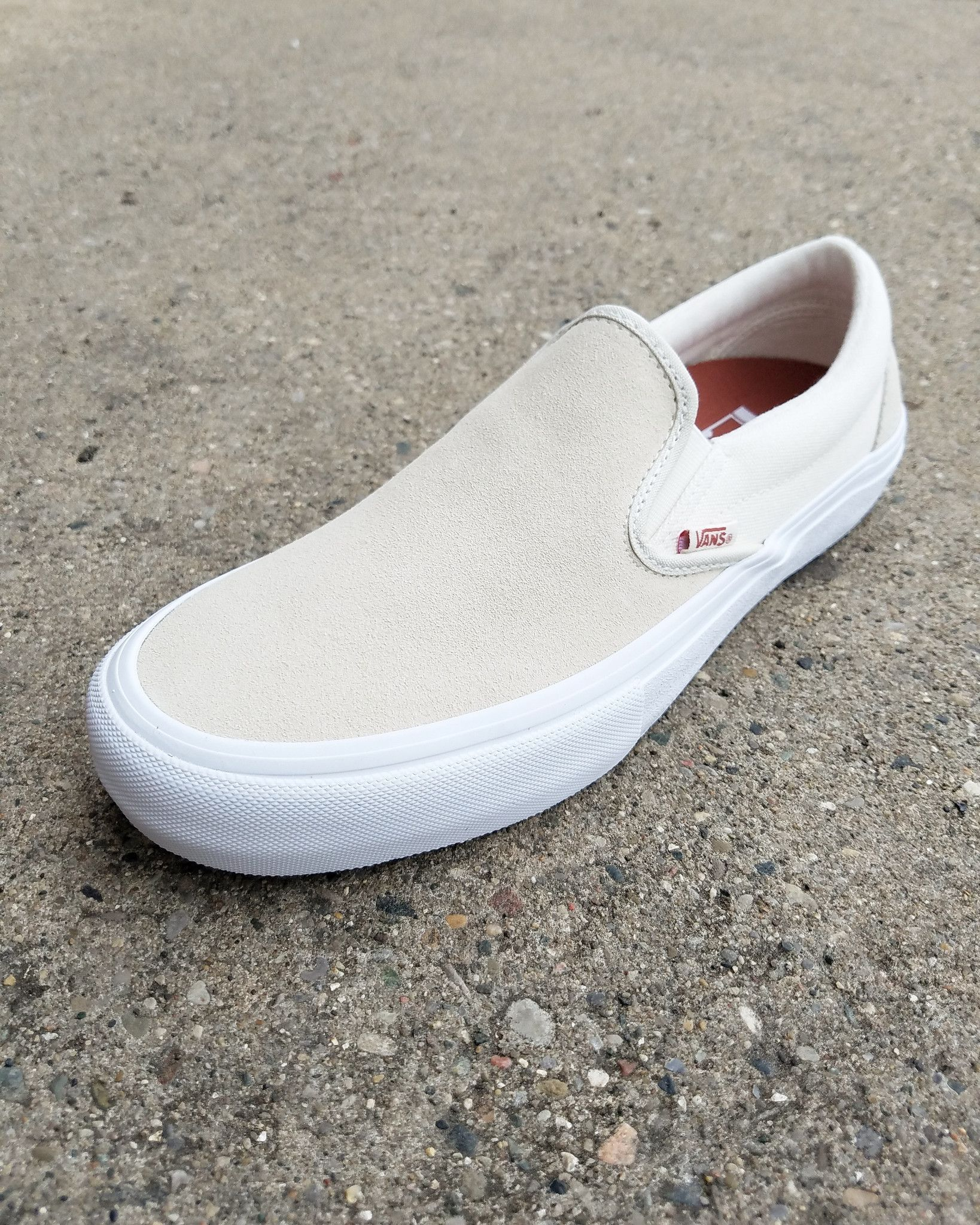 Vans Slip On Pro Shoes Turtledove Marshmallow