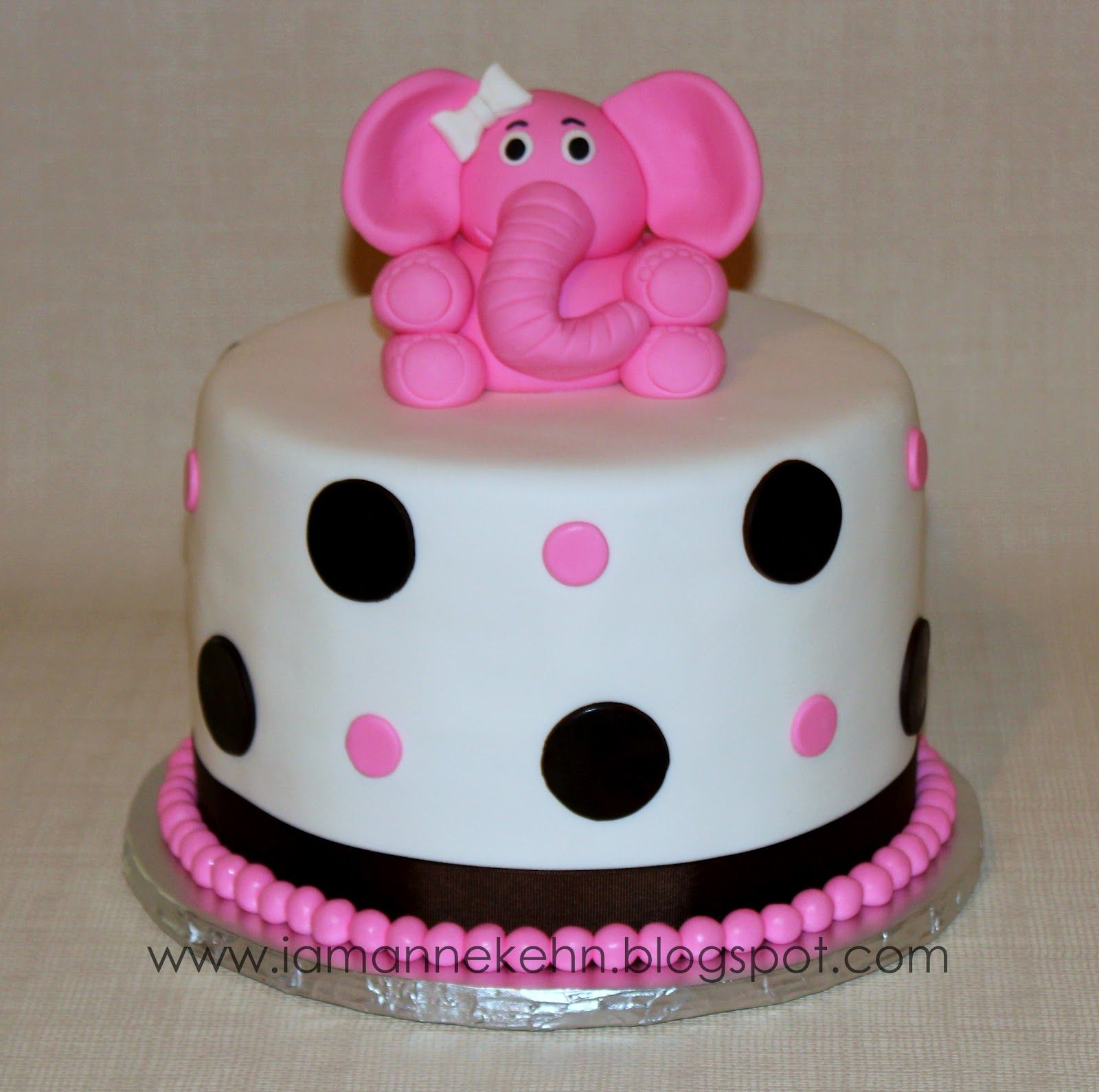 Girl Baby Shower Ideas - Pink Elephant Baby Shower Cake