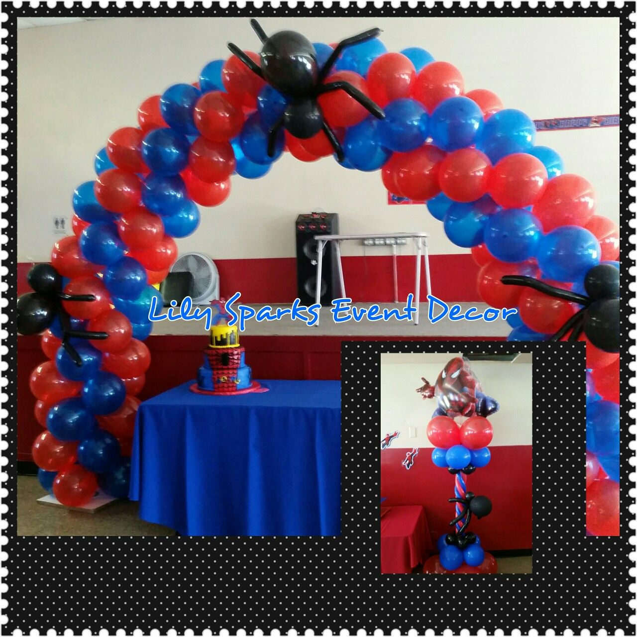 Spiderman balloon decor globoflexia pinterest globo - Decoracion de aranas ...