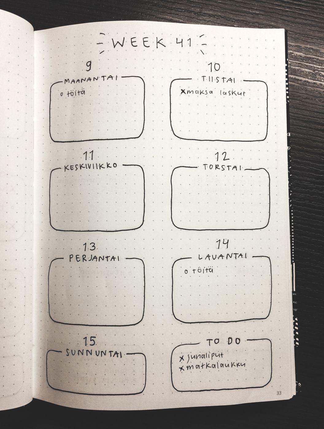 Bujo Kalenteri