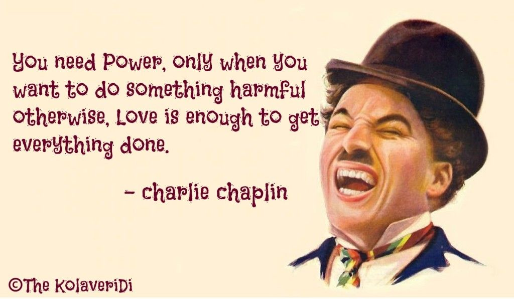 You Need Power, Only When You Want To Do Something Harmful