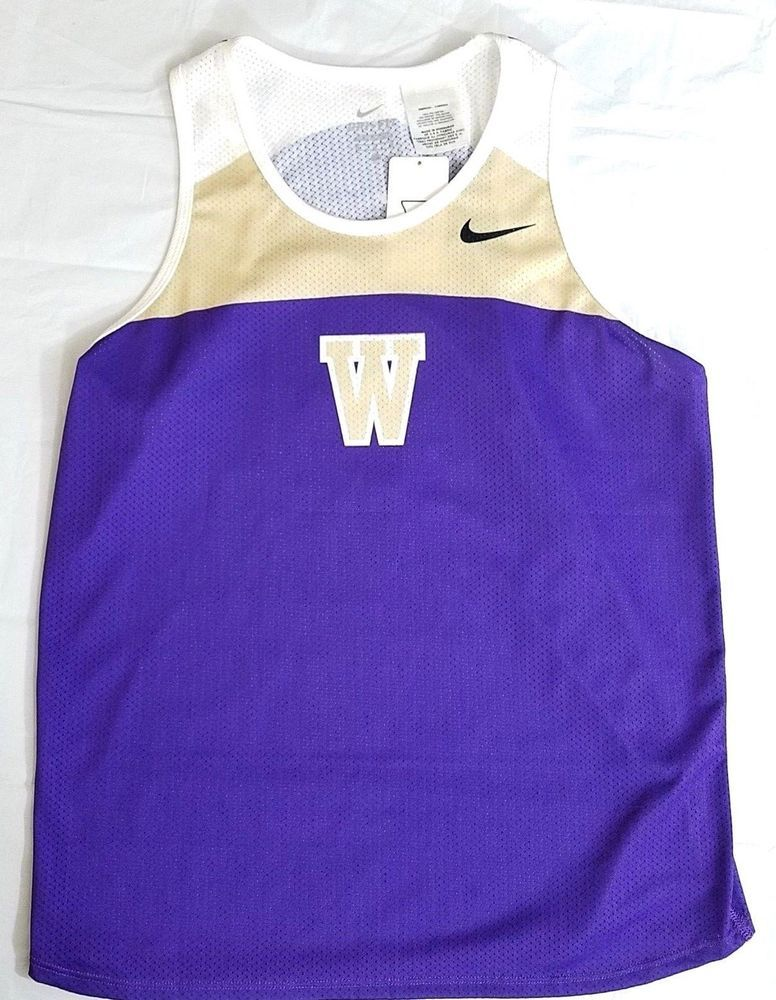 Bright Nike Dri-fit Ncaa Washington Huskies Womens Large Long Sleeve Running Shirt Women's Clothing Activewear