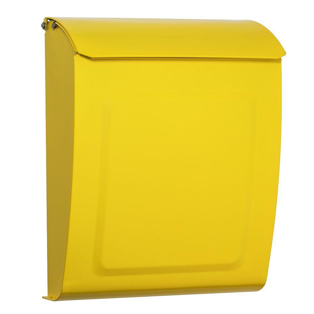 Aspen Locking Wall Mount Mailbox Yellow Architectural Mailboxes Wall Mount Mailbox Mounted Mailbox