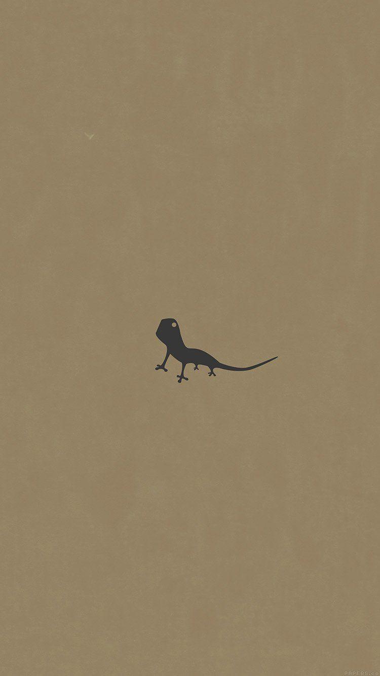lizard brown animal minimal simple art wallpaper hd iphone | cute
