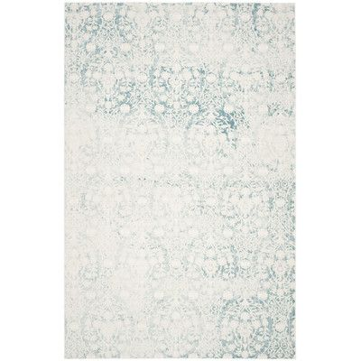 Found it at Wayfair - Auguste Turquoise/Ivory Area Rug