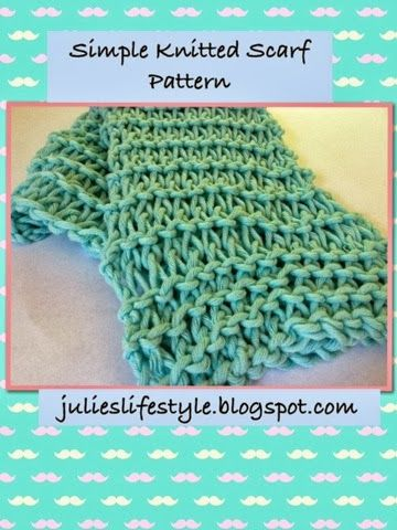 Julies Lifestyle Simple Knitted Scarf Pattern Stitch It Up