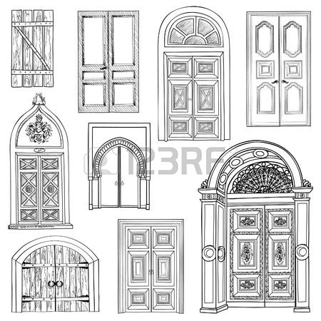 Set Of Building In Doodle Style Interior Design Sketches Interior Architecture Drawing House Sketch