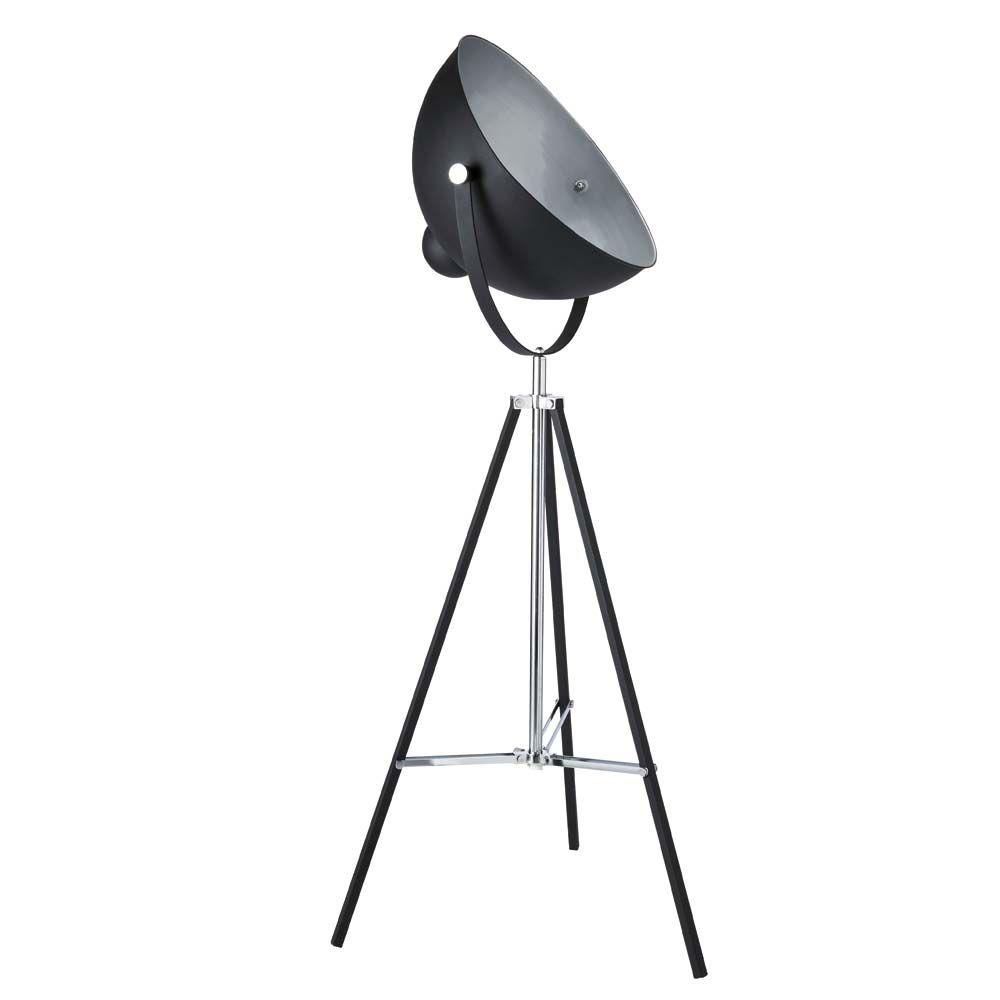 lampadaire tr pied en m tal noir h 145 cm d coration int rieure pinterest lampadaire. Black Bedroom Furniture Sets. Home Design Ideas