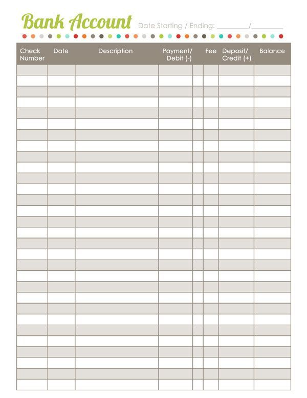 Home Finance Printables The Harmonized House Project (World label
