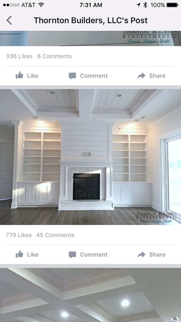 fireplace built in with overhead plumbing and wire concealment with ...