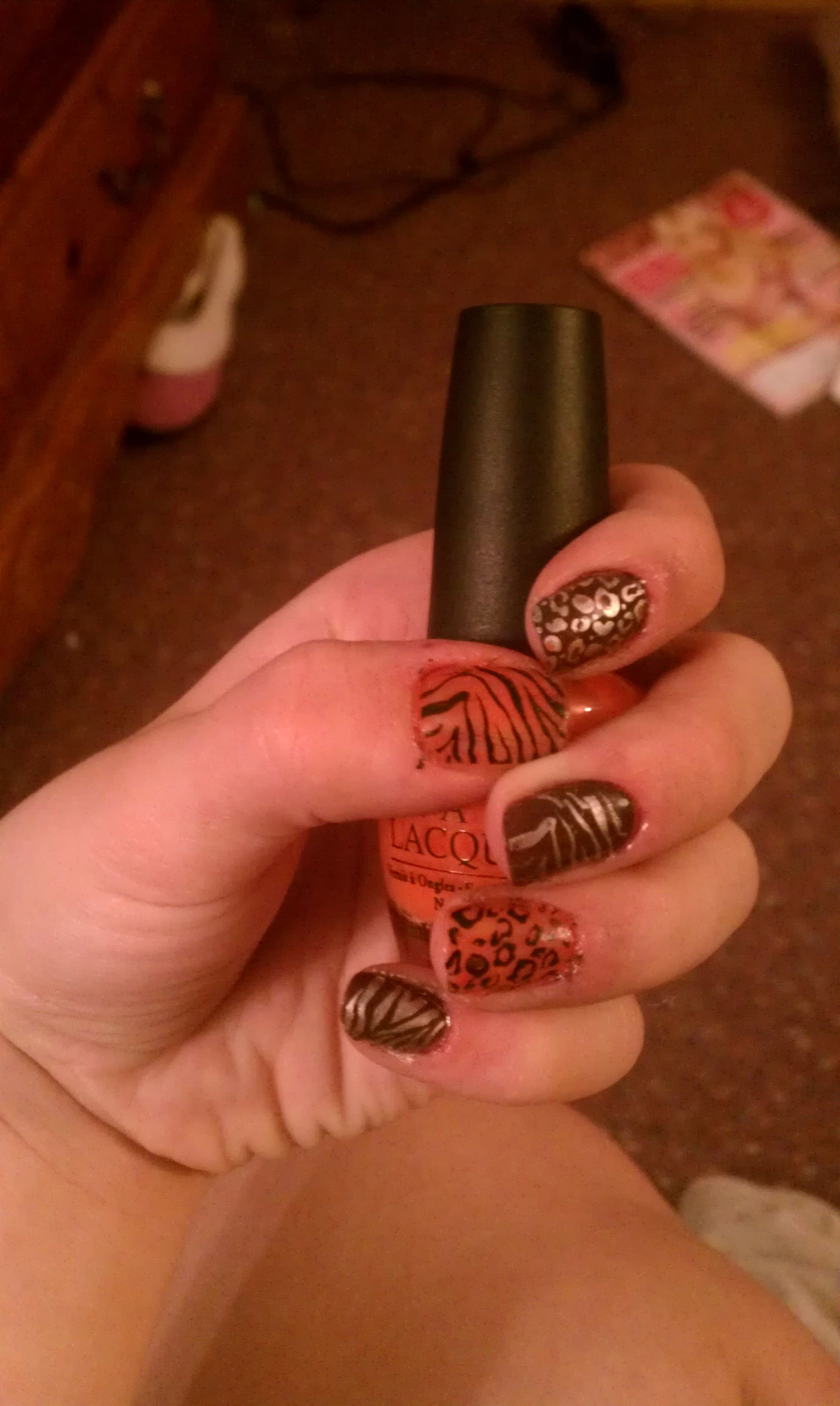 """Used the opi Texas collection. """"Y'all come back ya hear?"""" And """"suzi loves cowboys"""""""