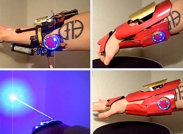 Real Life Iron Man Gauntlet Fires Effective Lasers Iron Man Fan