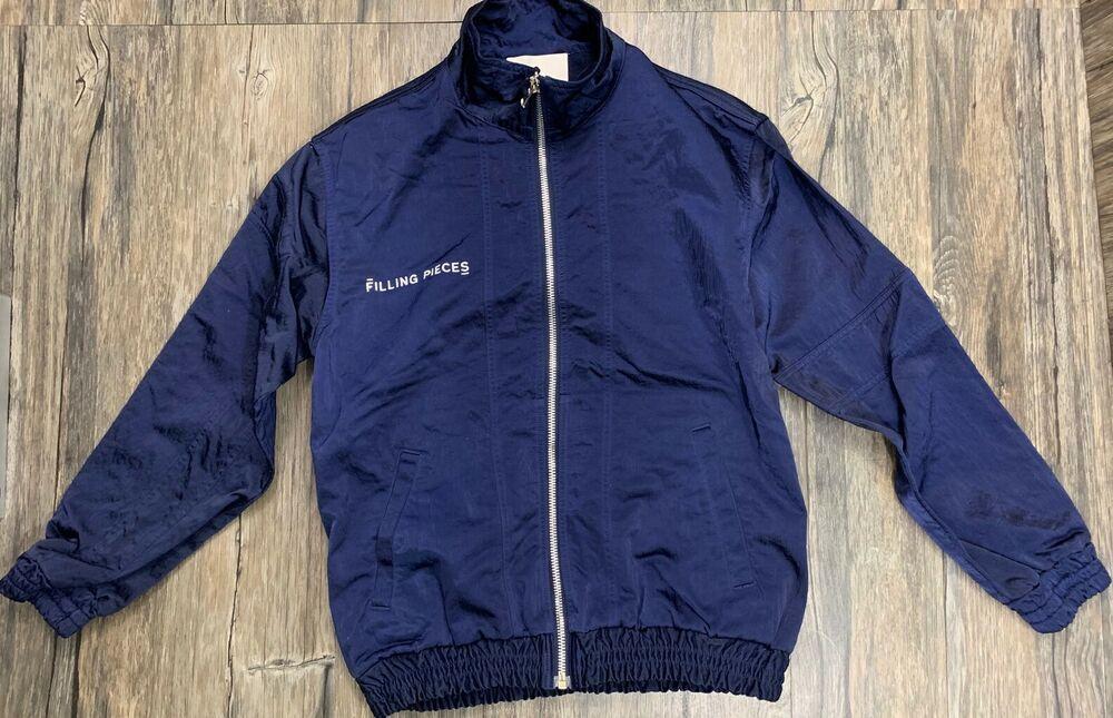 Filling Pieces Tech Satin Track Jacket Navy Blue Mens Sz S Fillingpieces Trackjacket Jackets Men Fashion Mens Jackets Jackets