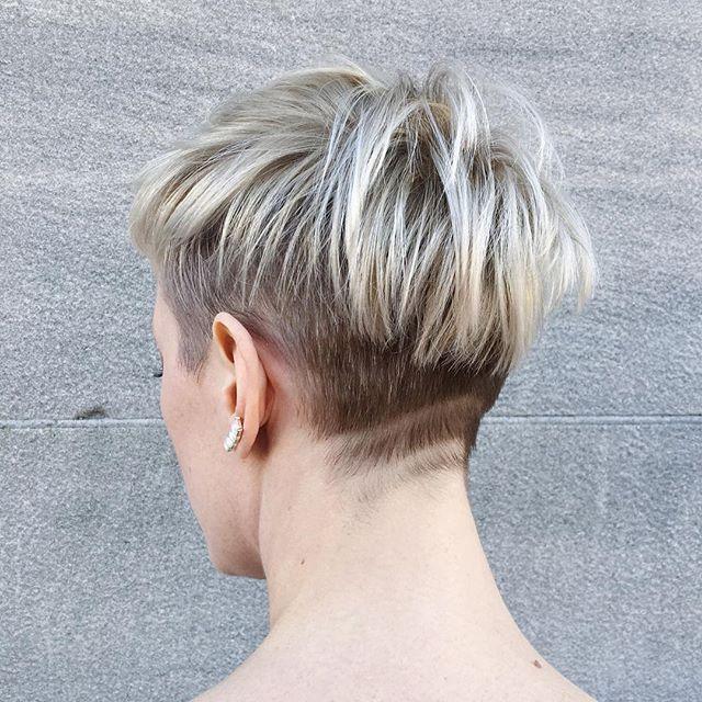 25 hübsche und flotte Kurzhaarfrisuren mit rasierten Nacken ...