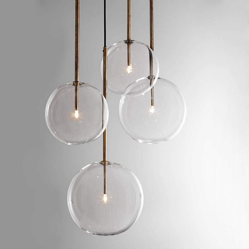Modern Clear Glass Pendant Lights Dia 15 20 25 30cm Glass Ball Lamp Shade G4 Led Dining Room Restaurant Hanging Lamp Luminaire Clear Glass Pendant Light Glass Pendant Light Pendant Lamp Dining Clear glass pendant lights