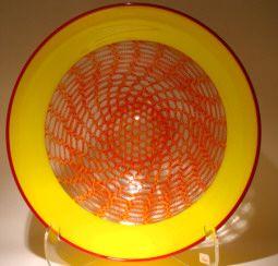 Art glass Platters - glass art from Kela's Gallery