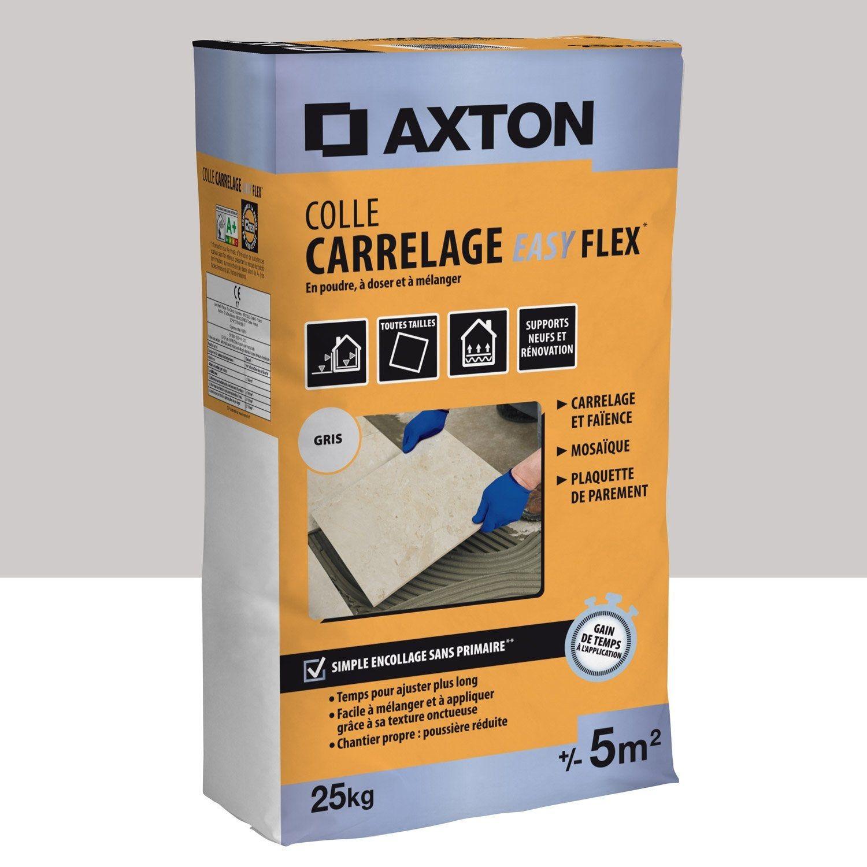 Colle Poudre Axton Easyflex Gris 5m² 25 Kg Axton Comment