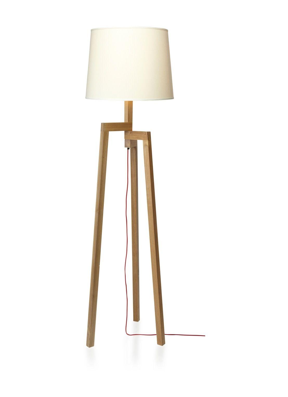 Ongekend Vloerlamp met houten frame • de Bijenkorf (met afbeeldingen KB-92