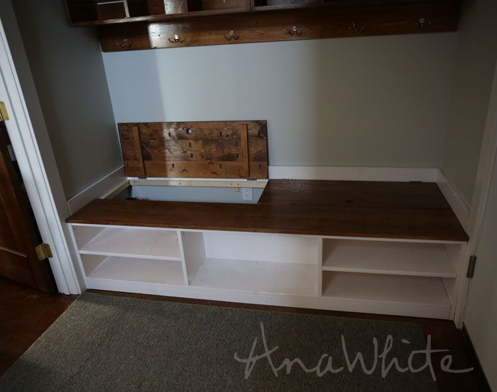 Ana White | Build a Extra Wide Shoe Bench | Free and Easy DIY ...