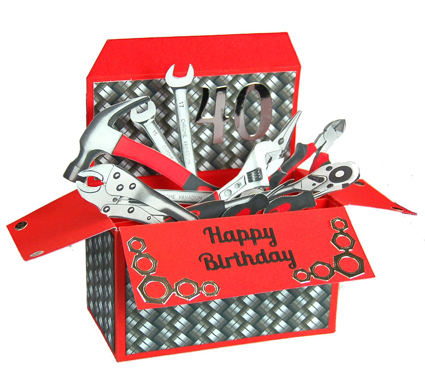 Create Fabulous Tool Box Inspired Pop Up Cards Using Robert Addams Templates Perfect For Father S Day Pop Up Cards Pop Up Box Cards 30th Birthday Cards