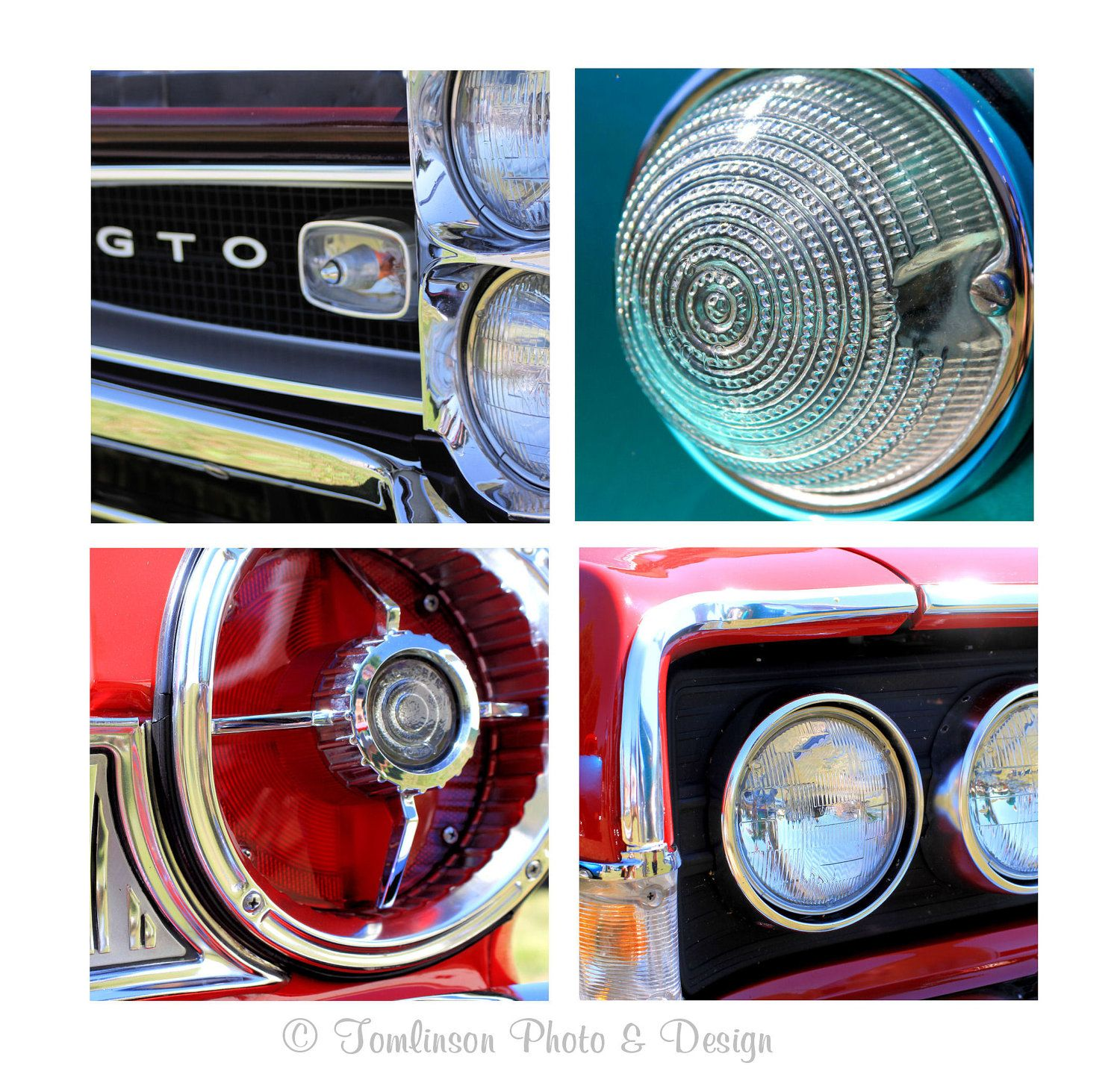 Classic car garage wall art decor for men by tomlinsonphotodesign