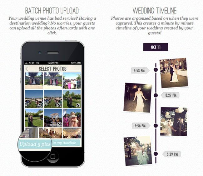 Collect Photos From Your Guests Phones With Wedding Party Wedding Party Invites Wedding Apps Wedding Website