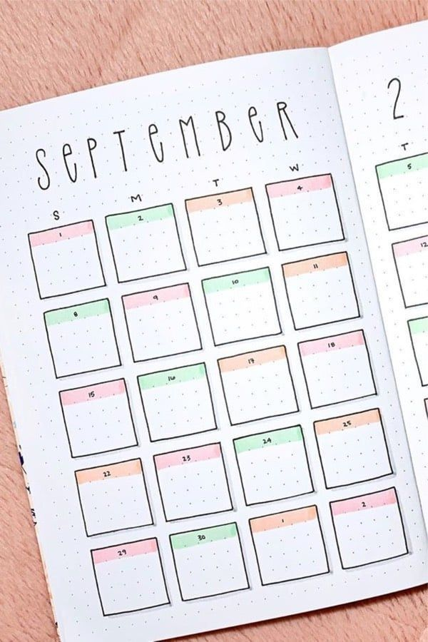 40 Best September Monthly Spread Ideas For 2019 - Crazy Laura