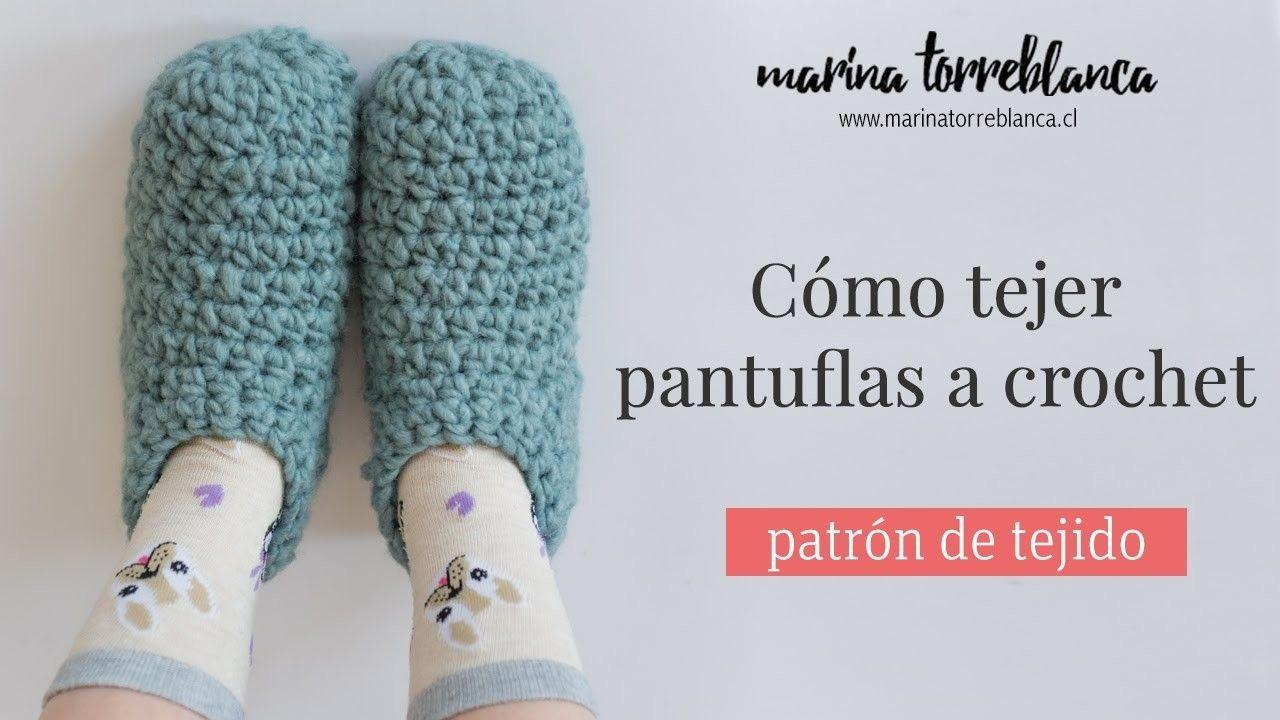 Como tejer pantuflas a crochet [Patrón de tejido] | Crochet