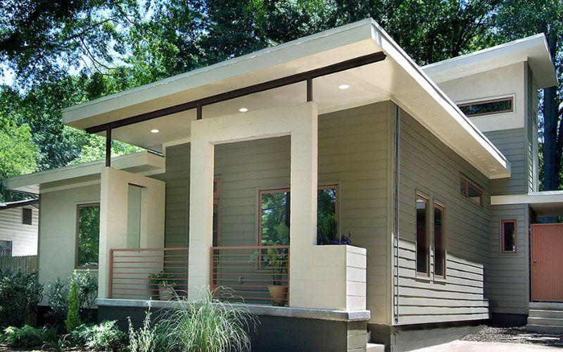 Warna Cat Dinding Luar Rumah Yang Cerah Modern Front Porches