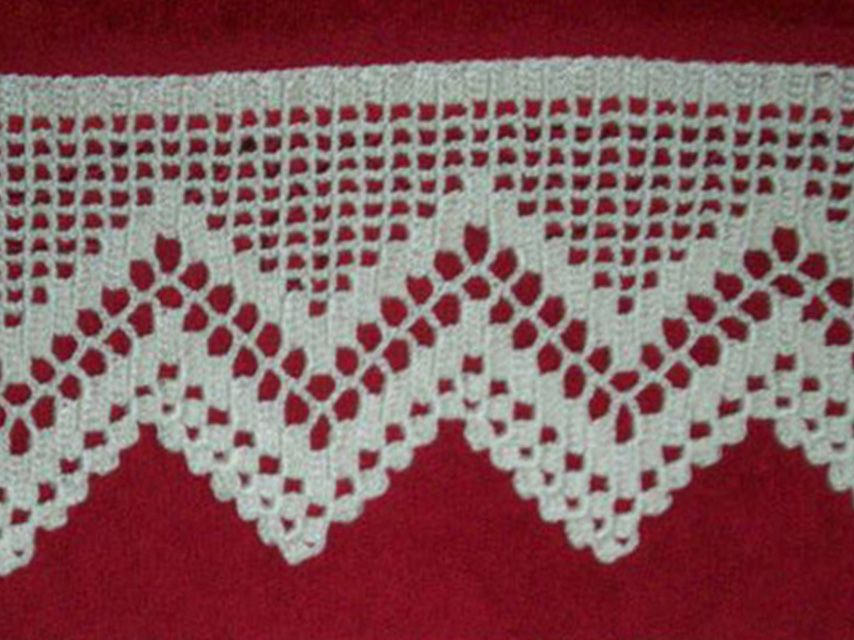 Pin puntillas crochet grafico una puntilla para mantita on - Puntillas para cortinas ...