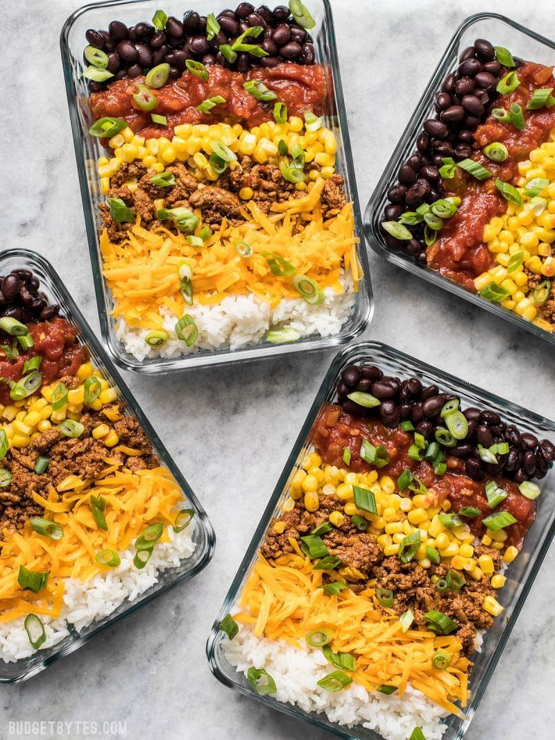 Easiest Burrito Bowl Meal Prep images