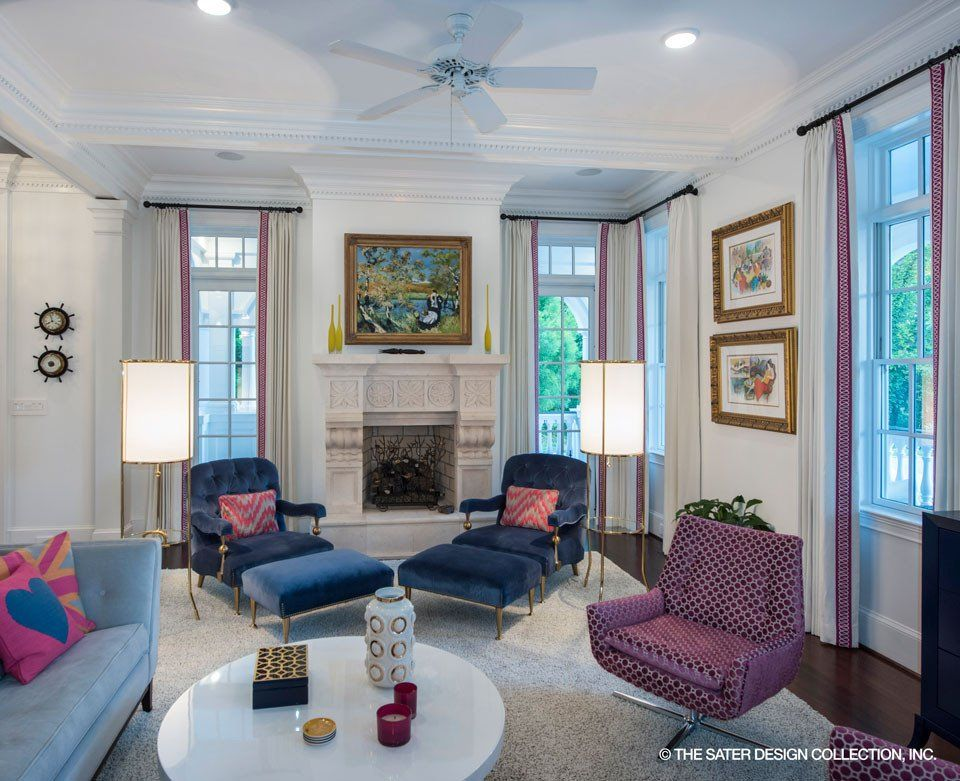 The Carrington House Plan L Sater Design Collection L Living Rooms With  Style #casualelegance