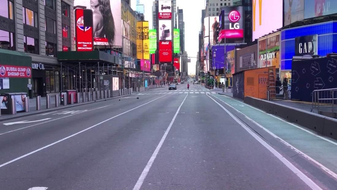 'Like a disaster film' See what Times Square looks like