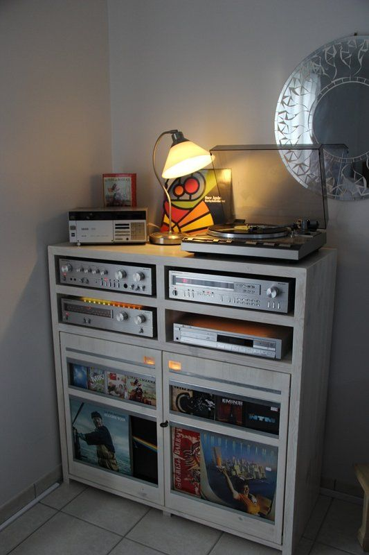 Pin By Audrey Sosa On Turntable Audio Room Audio Rack