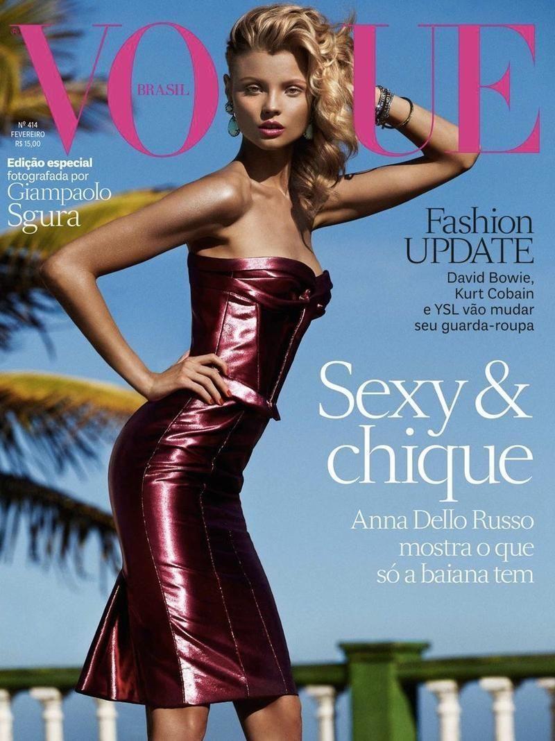 Magdalena Frackowiak for Vogue Brasil February 2013