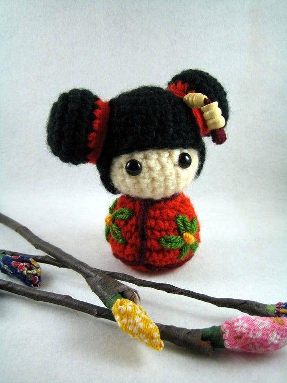 Amigurumi Kokeshi Doll Pattern here www.ravelry.com/patterns ... | 760x570