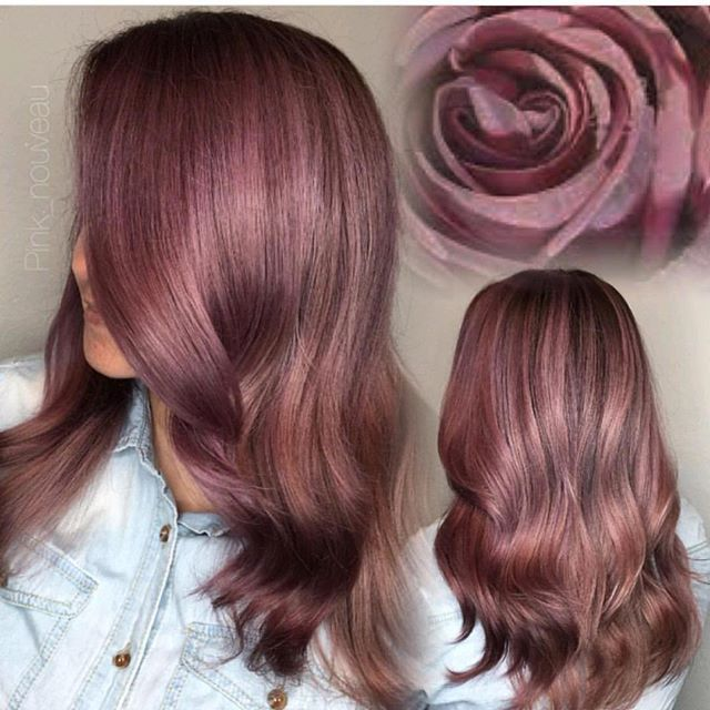 Violet Antique Rose  by @pink_nouveau #hotforbeauty #riversidehairstylist . . . #rosehair #hairinspiration #wavyhair #antiquerosehair #hairpainting