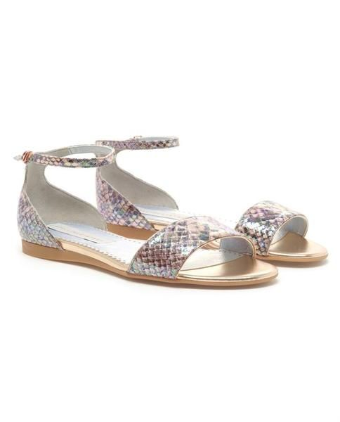 Oleo Faux Python Sandals by Stella McCartney #shoes