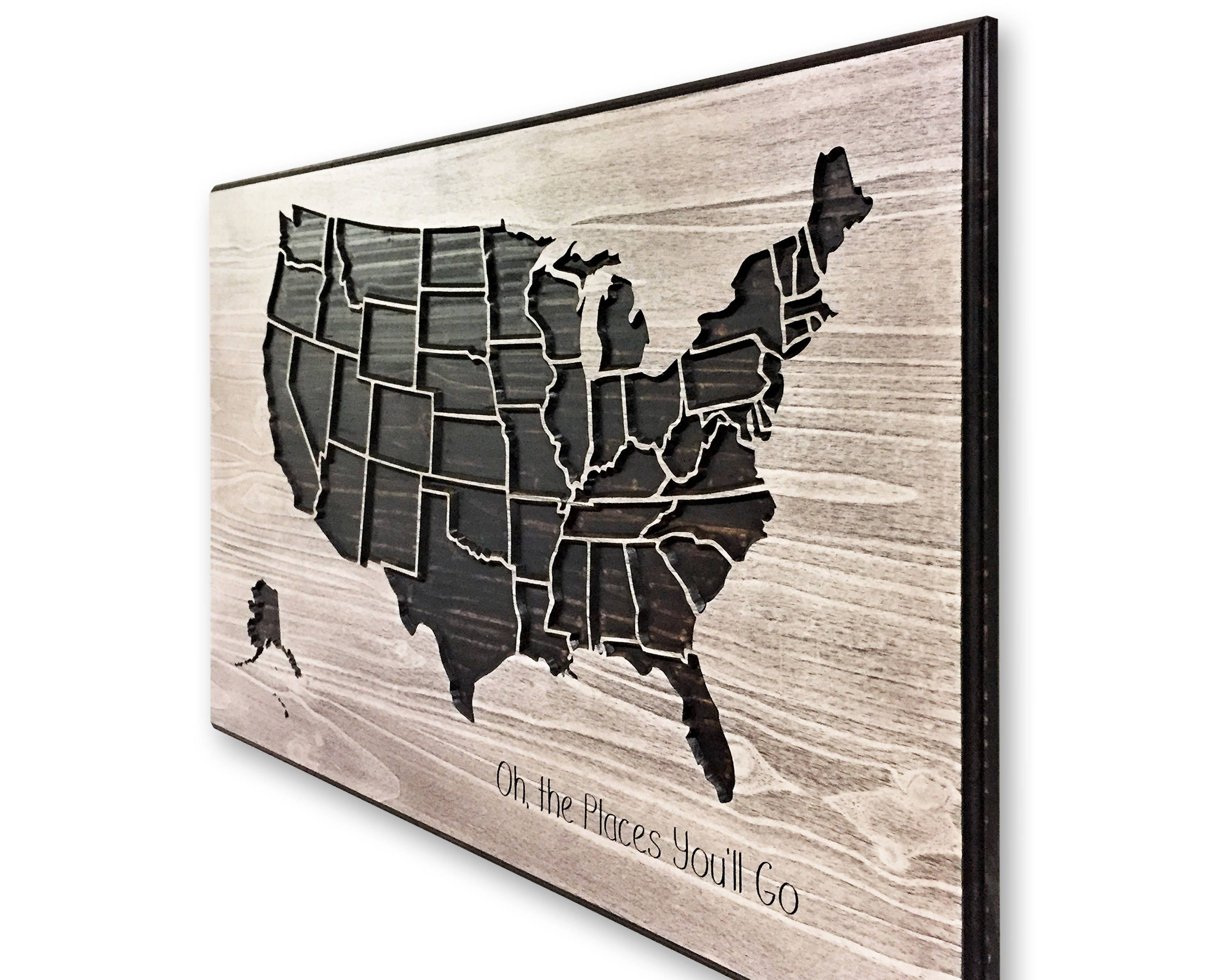 United States Map Wall Decor.United States Map Wooden Map Wood Wall Art Us Map Decor Us Map