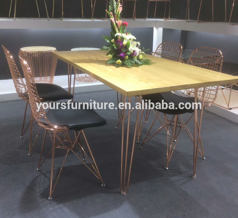 Peachy Chrome Copper Color Rose Gold Wire Dining Chair Alibaba Uwap Interior Chair Design Uwaporg