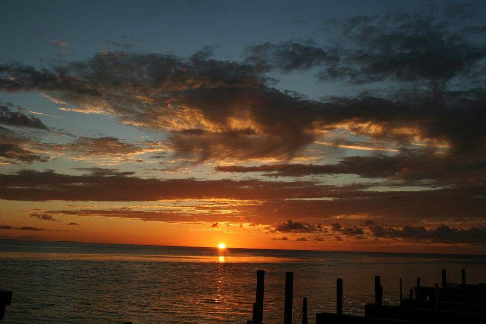Sunset on Soyth Padre Island Texas.