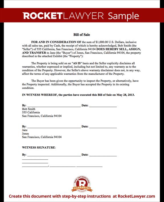 Sample Bill Of Sale Form Template Bill Of Sale Template Business Card Template Word Business Letter Template