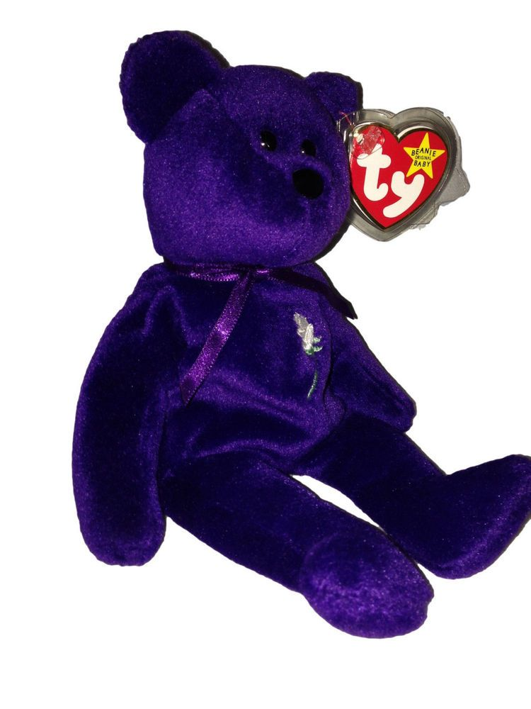 20f2919713e Ultra Rare Real 1st Edition Princess Diana 1997 Retired Beanie Baby PVC  Pellets  Ty