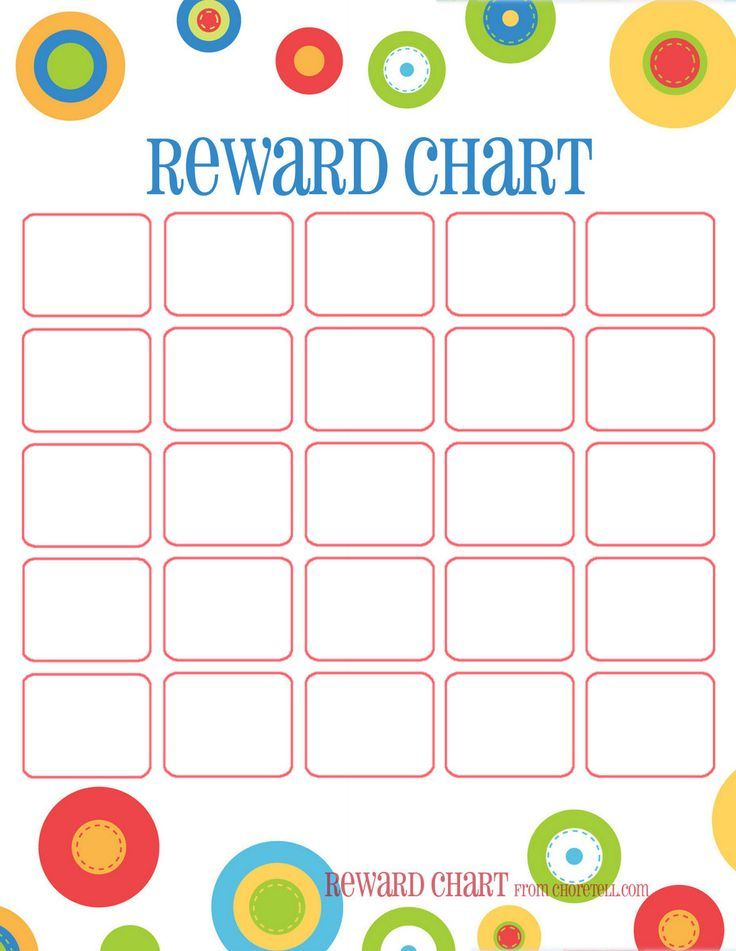 Image Result For Printable Reward Chart  Behavior Charts
