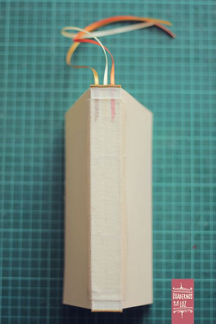 text block with three bookmarks glued under the headband and super - #bookbinding by Luz Riegelhaupt