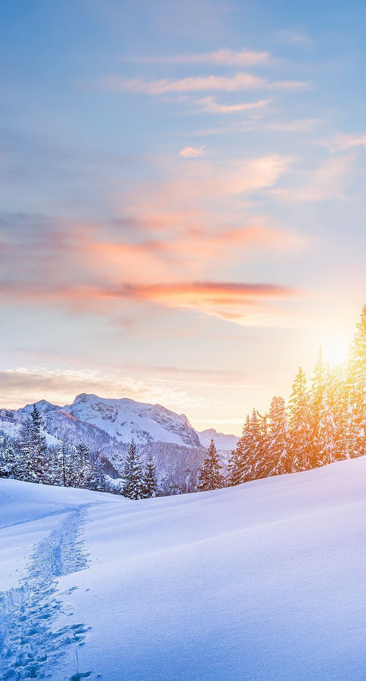 Photo of christmas landscape, #phone background mountains, #phone background mountains #winter …